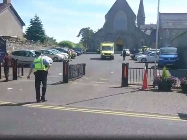 The accident happened outside of a church. Pic: TheJournal.ie