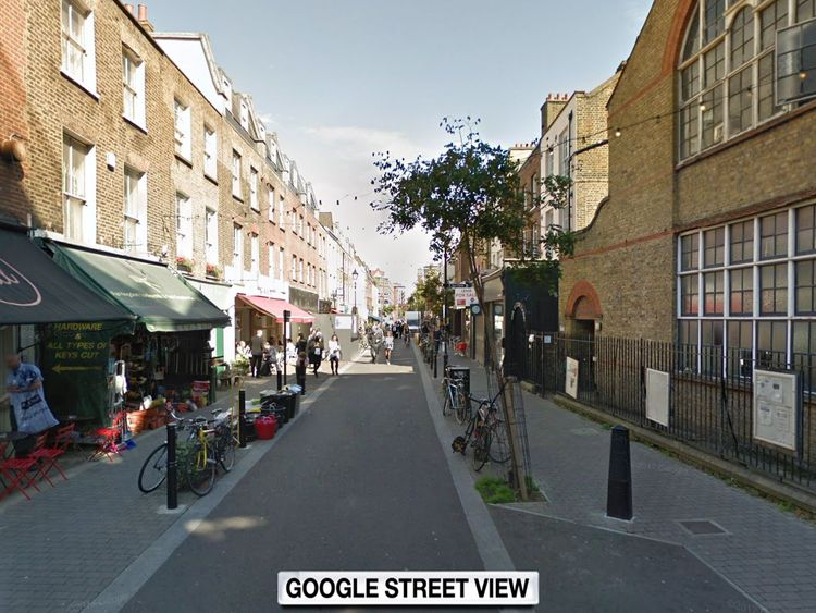 The incident happened in Exmouth Market