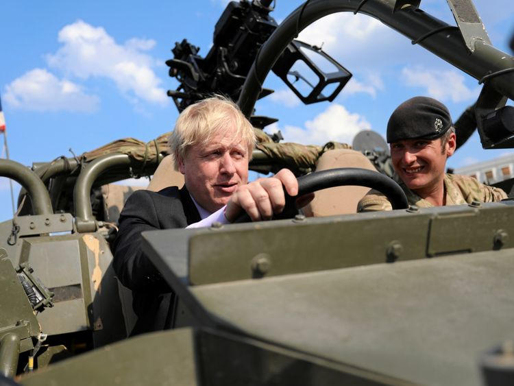 Foreign Secretary Boris Johnson in Poland