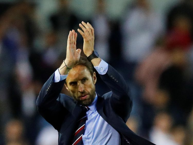 England vs Costa Rica - Elland Road, Leeds, Britain - June 7, 2018 England manager Gareth Southgate applauds fans after the match REUTERS/Phil Noble