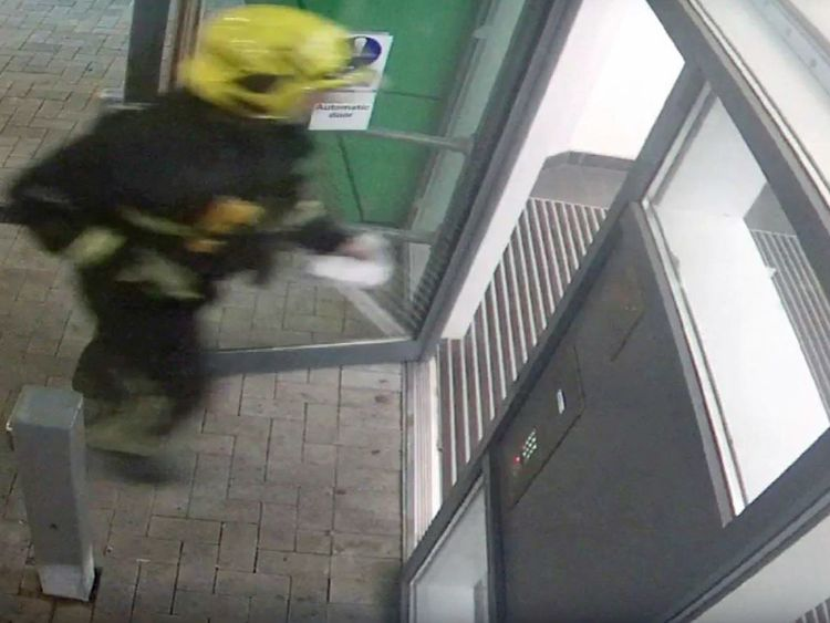 The first firefighters entering Grenfell Tower on 14 June