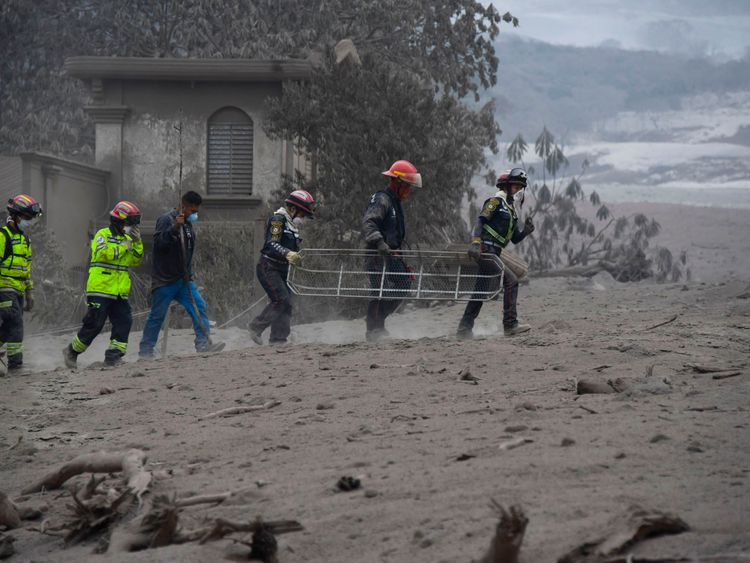 25 dead as Guatemala volcano spews river of lava through villages