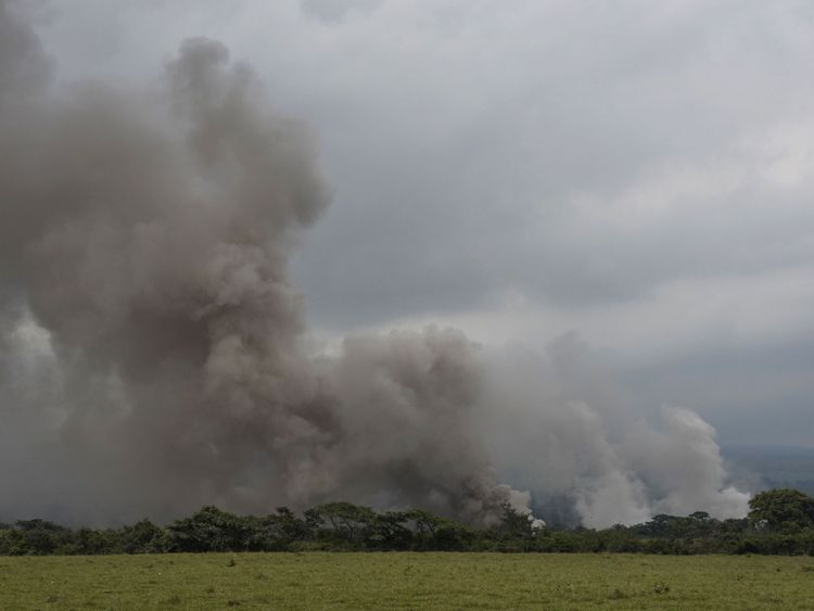 The latest explosions billowed ash more than 5,000m (16,000ft) above sea level
