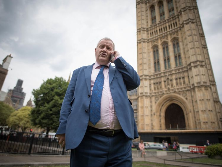 Ian Blackford outside Parliament after his walkout
