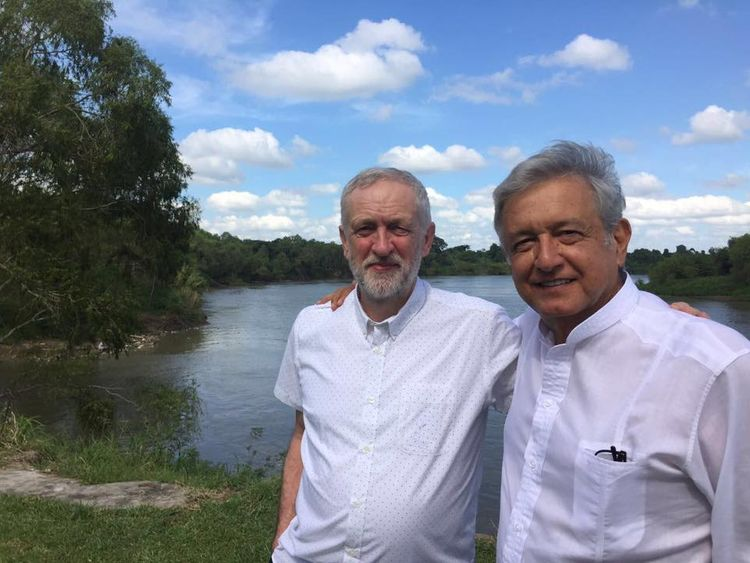 Jeremy Corbyn and Andres Manuel Lopez Obrador in 216