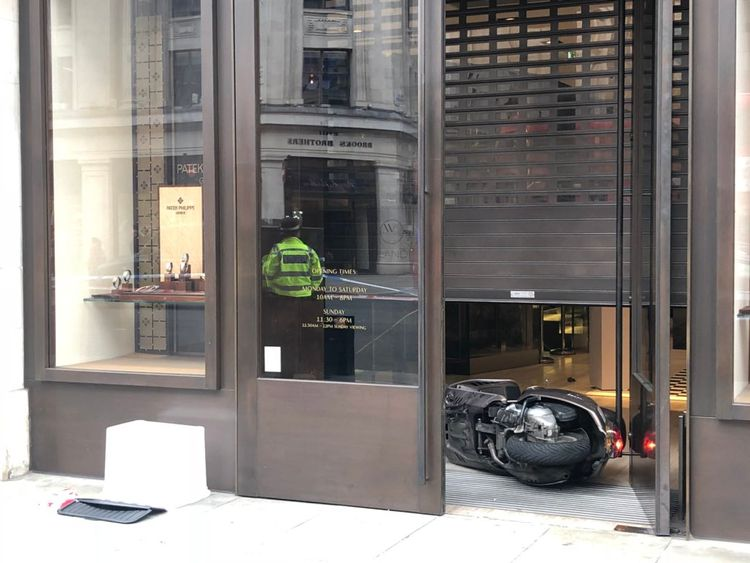 A scooter could be seen inside the shop. Pic: Lucy Hough, LBC