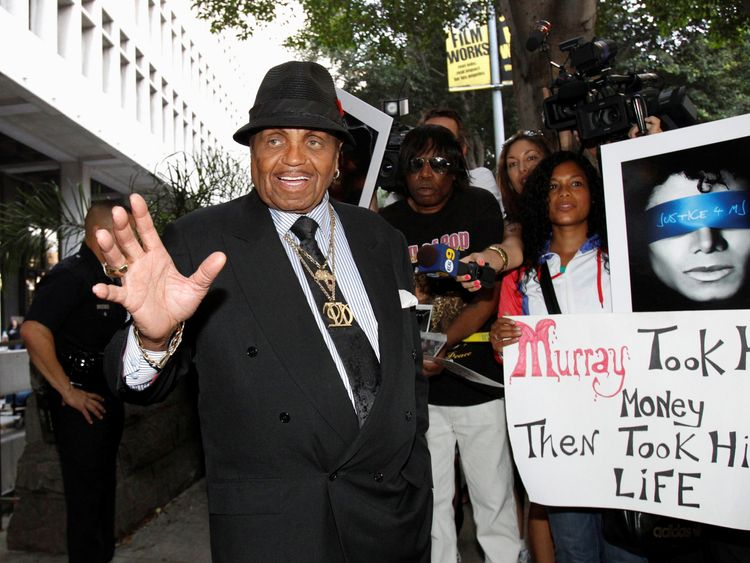 Joe Jackson during Dr. Conrad Murray's trial in the death of his son in Los Angeles
