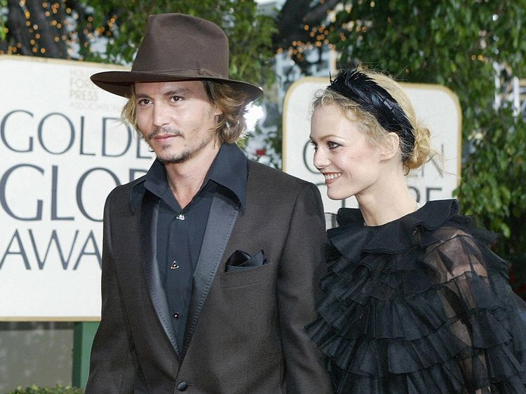 Johnny Depp was previously married to Vanessa Paradis