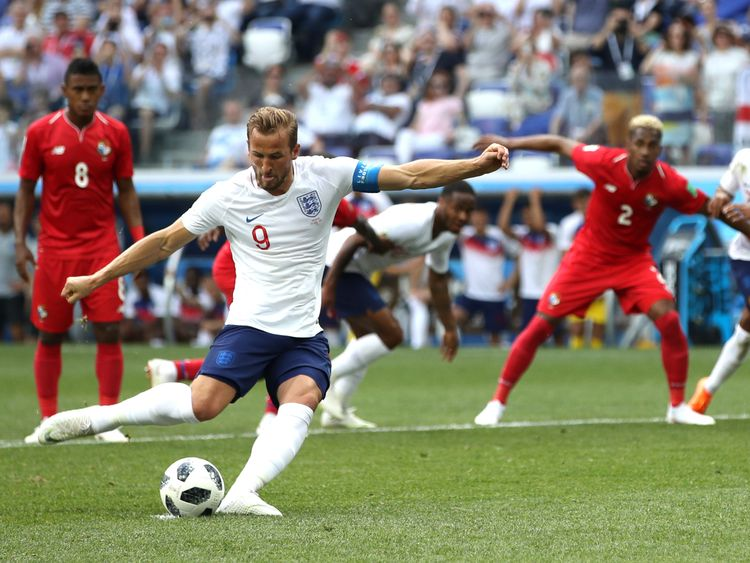 Kane scores England's second and his first