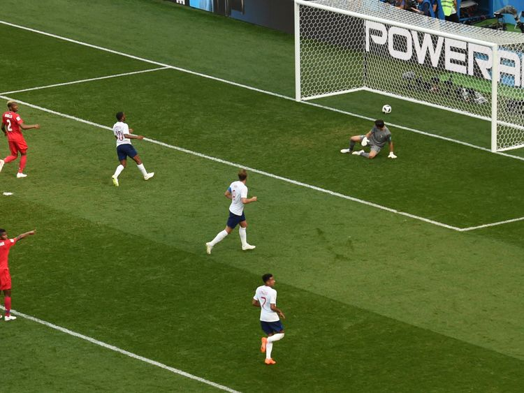 Jaime Penedo is left motionless after a deflection from Kane lands in the back of Panama's net
