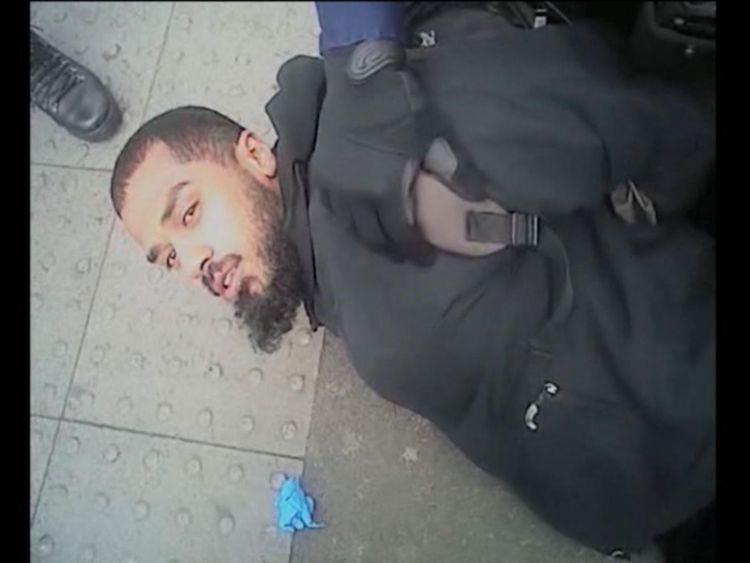 Body-worn camera footage has shown the moment Khalid Ali was taken down by armed police near Parliament.