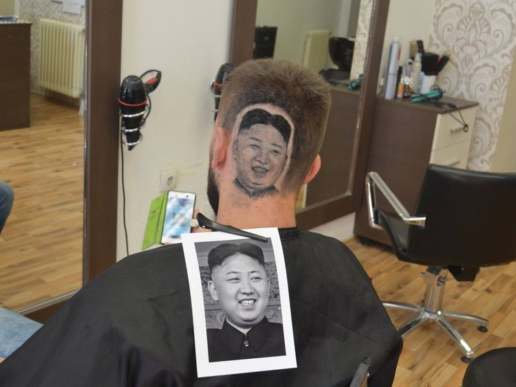 Perhaps the most controversial style was Kim Jong Un. Pic: Facebook/House of Damian