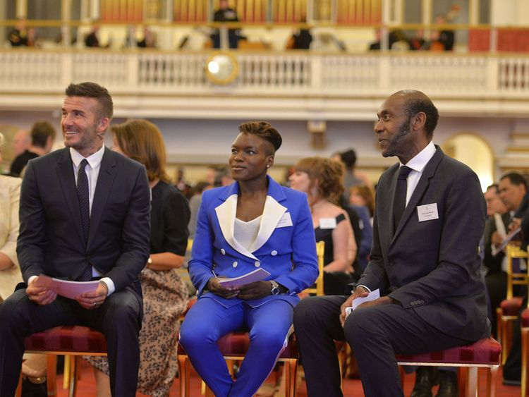 David Beckham, Nicola Adams and Sir Lenny Henry