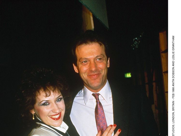 Grantham pictured with his on-screen wife - Angie Watts - played by Anita Dobson