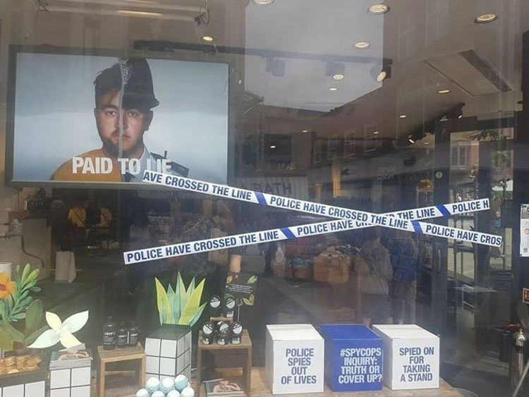 One of Lush's shop windows since the campaign was launched