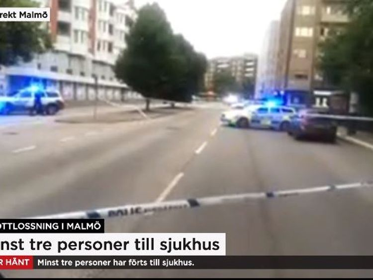 Malmo shooting: Swedish police warn several injured in city centre
