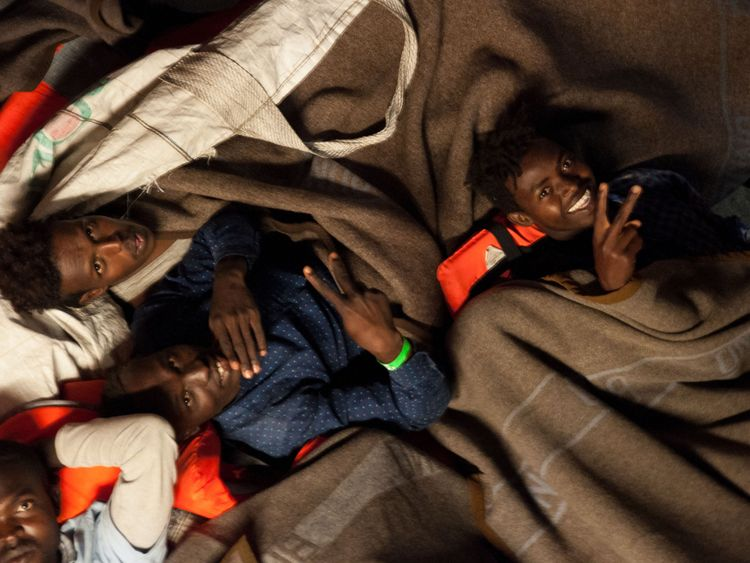 migrants rescued in Mediterranean