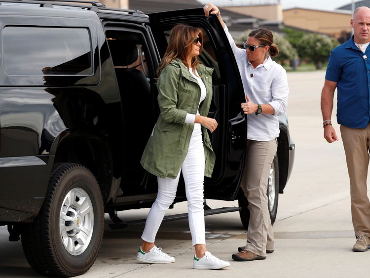 US fashion firm sells its take on US first lady's controversial jacket