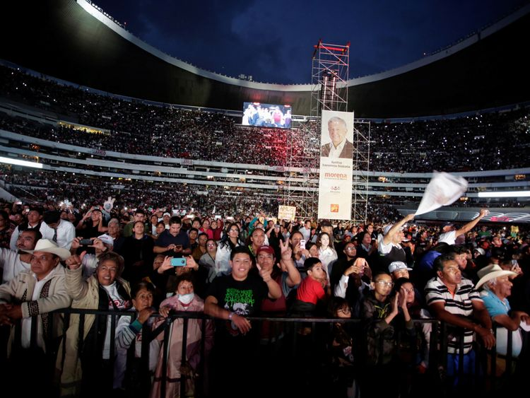 More than 80,000 people attended Lopez Obrador's last rally
