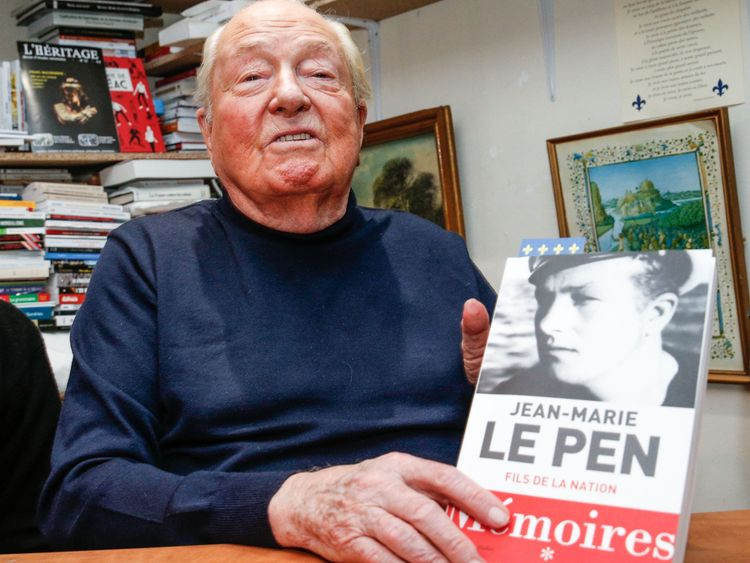 Mr Le Pen's memoirs were published in 2018