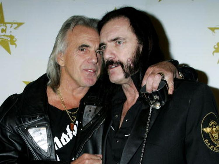 Stringfellow with the Motorhead frontman Lemmy