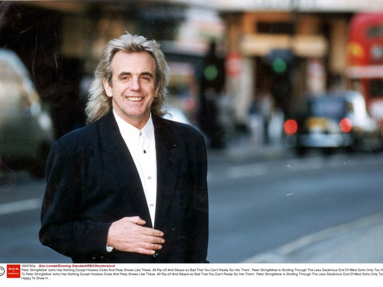 Peter Stringfellow in Soho, 1994