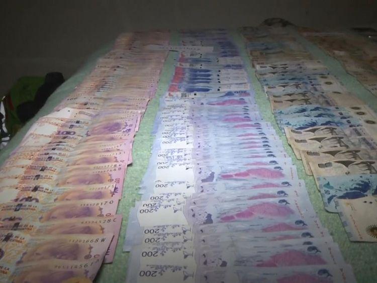 Police seized 400,000 Argentinian pesos