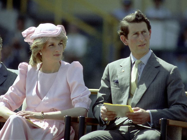 Princess Diana And Prince Charles on their first royal Australian tour in 1983 in Newcastle, Australia