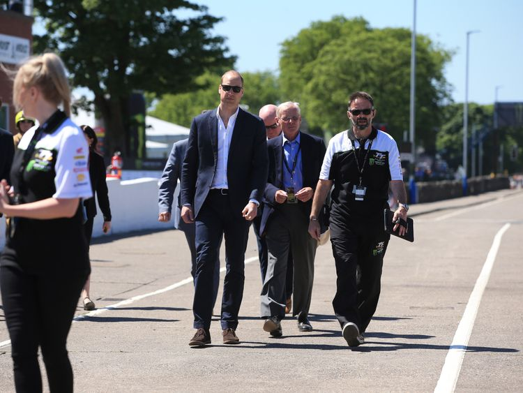 Prince William attends the Isle of Man TT