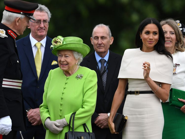 Queen Elizabeth II and Meghan, Duchess of Sussex