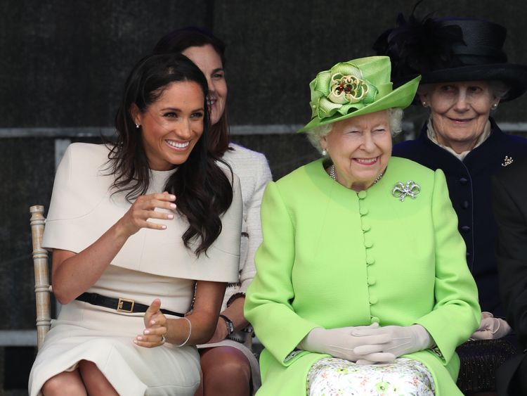 Queen Elizabeth II and the Duchess of Sussex