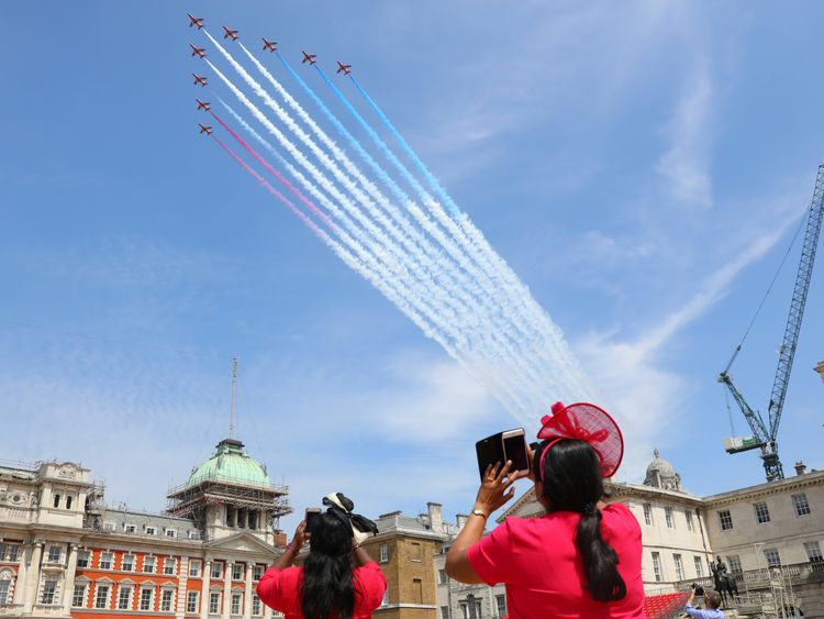 The Red Arrows over London