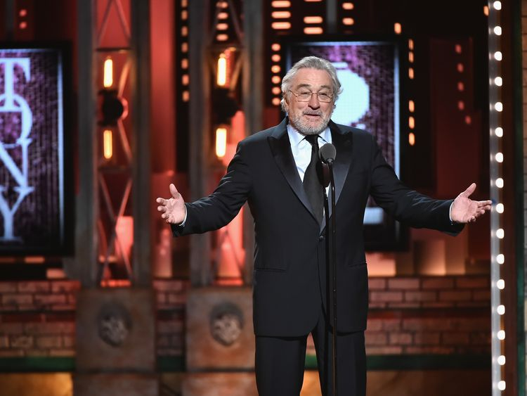 Robert De Niro speaks onstage during the awards ceremony in New York
