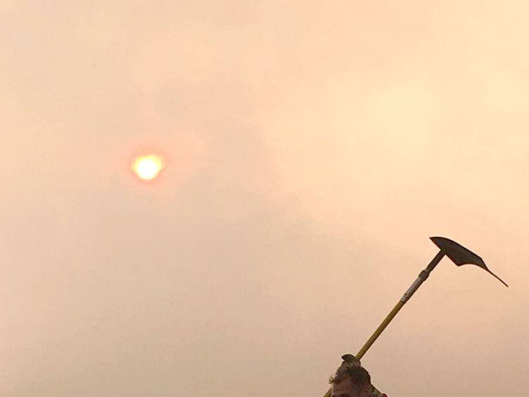 Crews tackle moorland blaze near Winter Hill TV mast