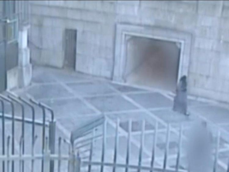 Safaa Boular touring the perimeter of MI6