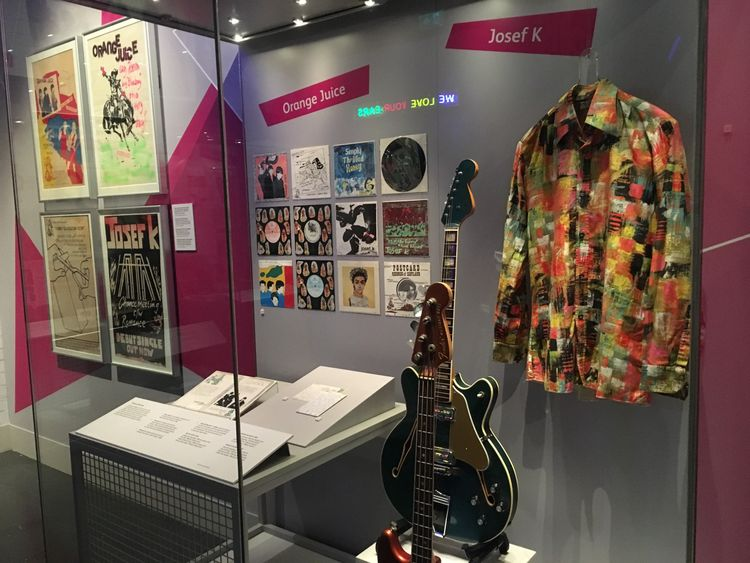 Guitars, pictures and costumes make up the items on display at the exhibition