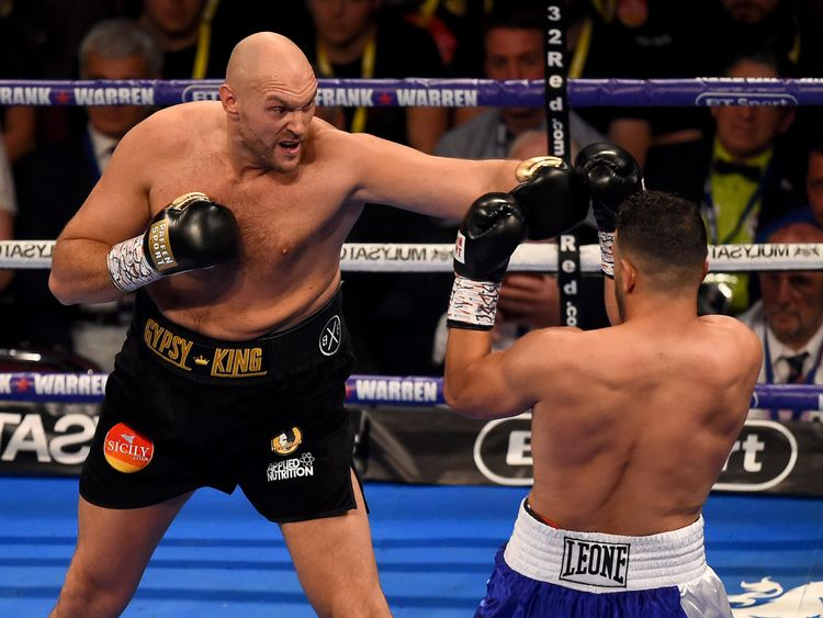 Fury had a six-inch height advantage over Albanian Sefer Seferi