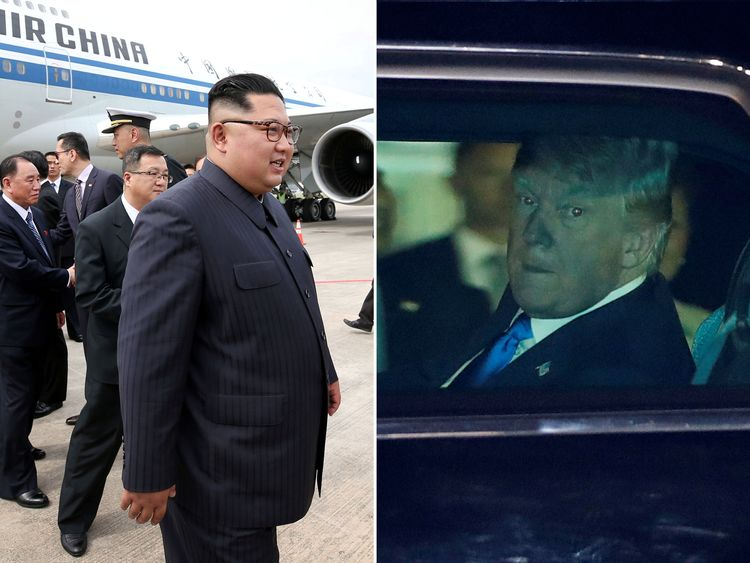 Kim Jong Un and Donald Trump have arrived in Singapore ahead of Tuesday's summit
