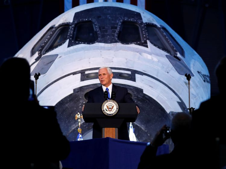Mike Pence addressed the National Space Centre for the first time in 2017