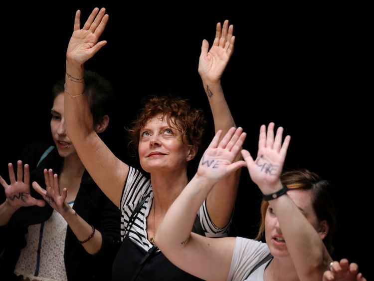 Susan Sarandon arrested at anti-Trump protest alongside 500 others