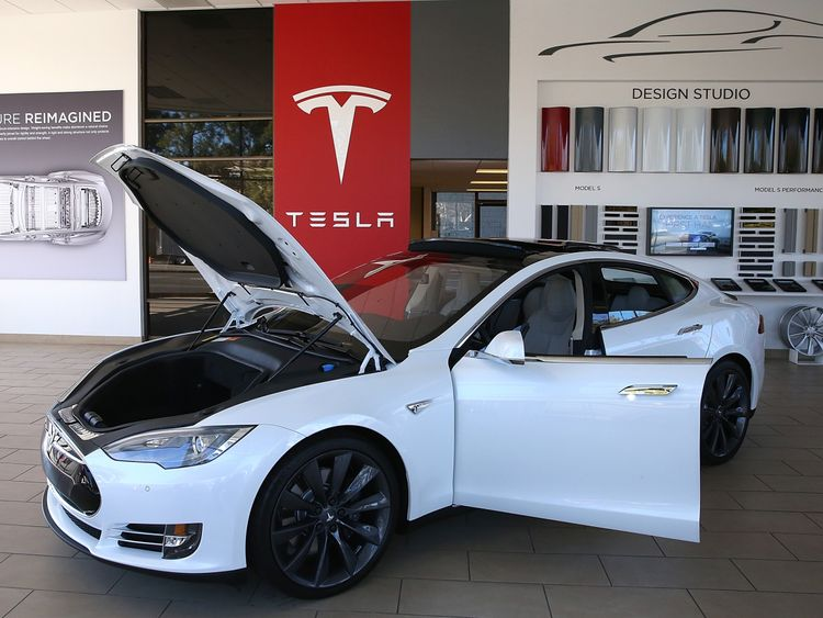 Tesla car on November 5, 2013 in Palo Alto, Cuba.