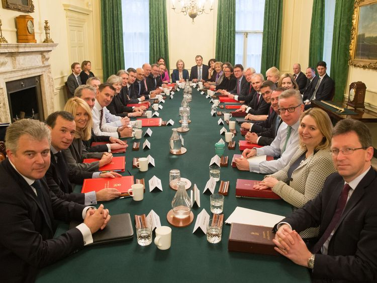 Theresa May's Cabinet is set to vote against nine amendments, but it is not certain her backbenchers will