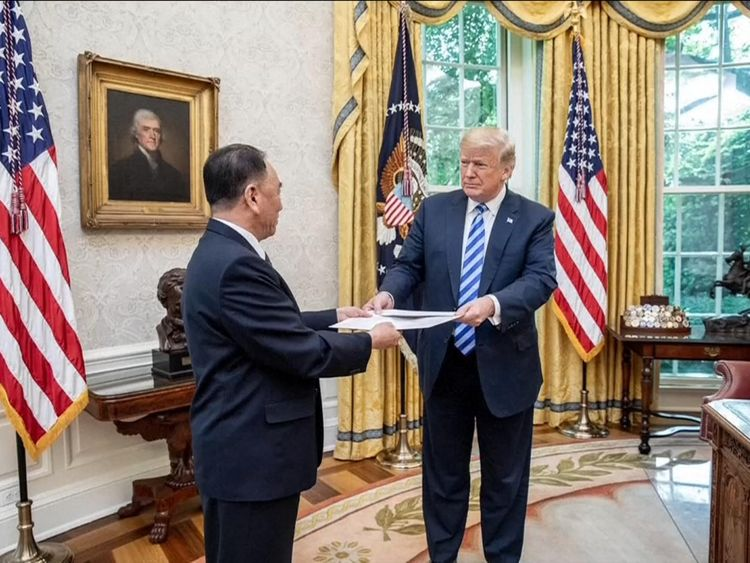 Kim Yong Chol hand delivers Kim Jong Un's letter to Donald Trump in Washington
