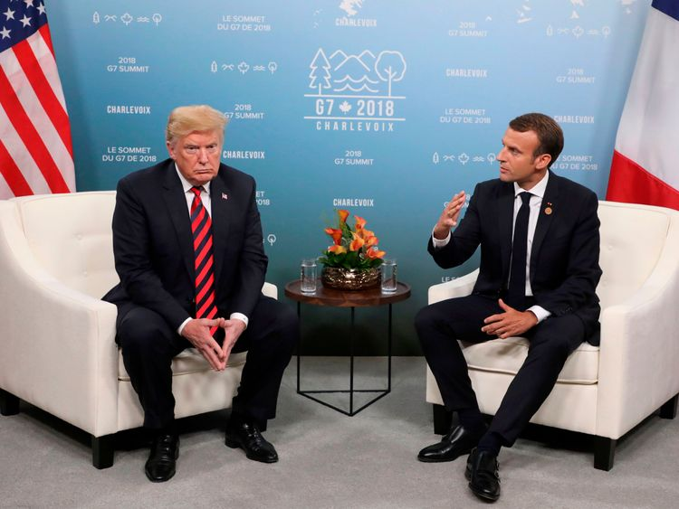 Trump hits out at Macron's 'very insulting' call for EU army