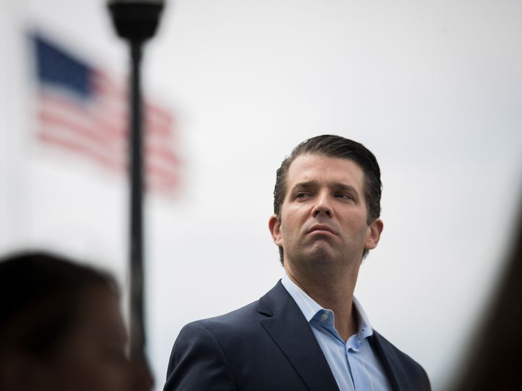 Trump Jr waded into the Twitter spat
