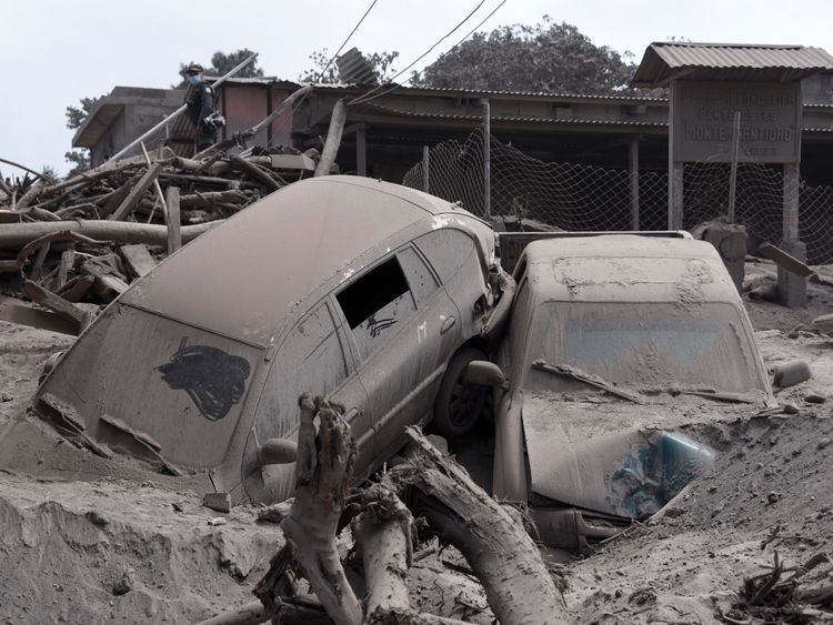 The eruption has wiped out whole villages and destroyed cars and homes