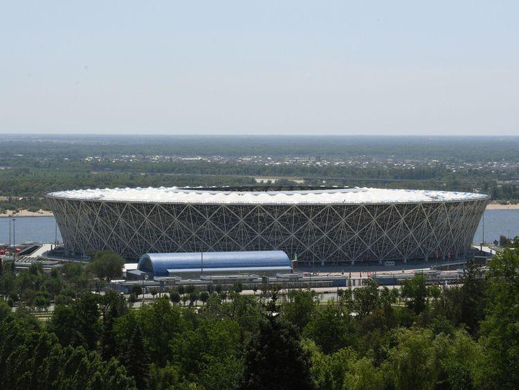 The 45,000-seater stadium Volgograd Arena