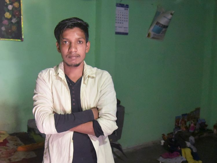Satish Bhaykre, 21, who was beaten by a mob
