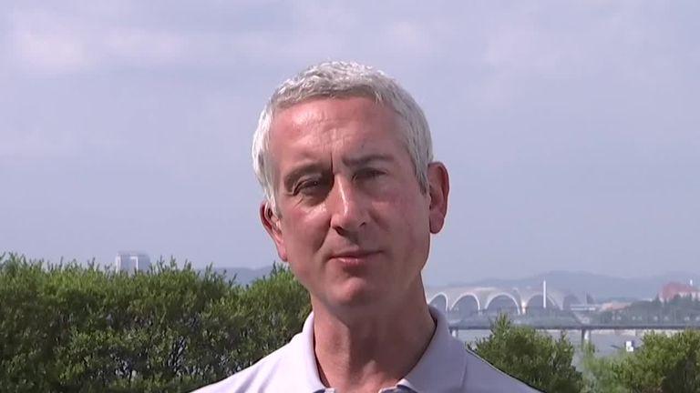 AP journalist Raf Wober in Pyongyang
