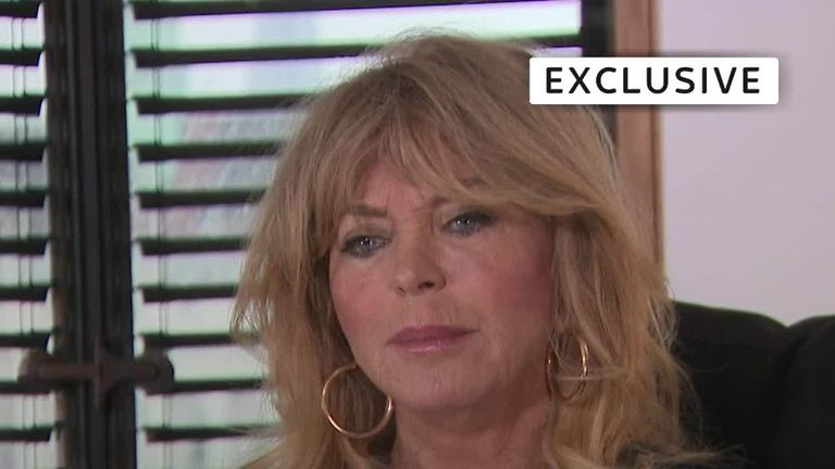 Goldie Hawn speaks to Sky's Kay Burley